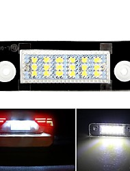 cheap -2Pcs LED License Plate Number Light Bulbs Lamp For Ford Fiesta Fusion Mondeo MK2 Ford Fusion White Car Lights