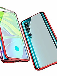 cheap -compatible with xiaomi mi note 10 / cc9 pro case,  360 degree front and back transparent tempered glass cover, strong magnetic adsorption technology metal bumper for xiaomi mi cc9 pro (red)