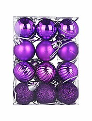 cheap -christmas decor loneflash 24pcs christmas tree toppers 30mm christmas xmas tree ball bauble hanging home party ornament decor