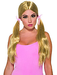 cheap -party long pigtail wig, blonde