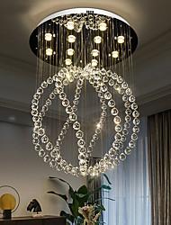 cheap -60cm Crystal Chandelier Ceiling Light Ball Design Luxury Modern Stainless Steel Electroplated 110-120V 220-240V