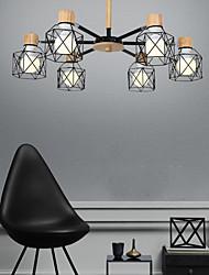 cheap -6-Light 70 cm Lantern Desgin Pendant Light Metal Sputnik Painted Finishes Nordic Style 110-120V 220-240V
