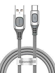 cheap -Type-C Cable 5 A 1.0m(3Ft) High Speed / Quick Charge PVC(PolyVinyl Chloride) USB Cable Adapter For Samsung / Huawei / Xiaomi