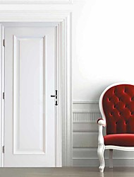cheap -Imitation White Wooden Door Self-adhesive Creative Door Stickers Living Room DIY Decorative Home Waterproof Wall Stickers
