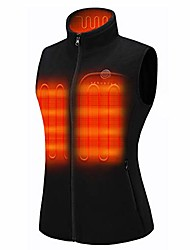 cheap -women's fleece heated vest with battery pack 7.4v, lightweight insulated electric vest