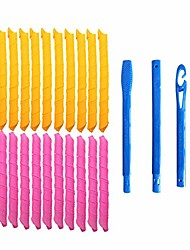 cheap -magic hair curlers, spiral curls styling kit, 18 no heat hair curlers and 1 styling hooks, for extra long hair up to 22 inches