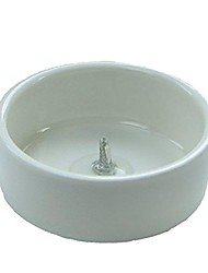 cheap -white porcelain candlestick holder, 3/4 inch height 1 7/8 inch diameter. for taper candles 3/8 to 7/16 inch diameter (1)