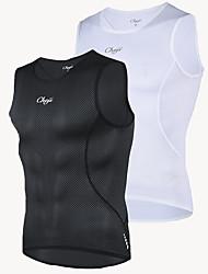 cheap -cheji® Men's Sleeveless Cycling Vest White Black Bike Breathable Sports Clothing Apparel / High Elasticity