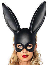 cheap -Mask Halloween Mask Eye Mask Inspired by Rabbit Mascot Easter Bunny Black White Halloween Halloween Easter Adults' Women's