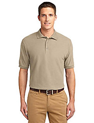 cheap -men's tall silk touch polo 4xlt stone