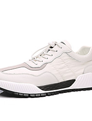 cheap -Men's Trainers Athletic Shoes Casual Daily PU White Black Fall Winter