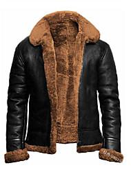 cheap -tom hardy farrier dunkirk flight bomber ginger shearling fur coat (m) brown