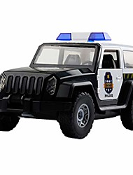 cheap -friction powered police car off-road truck diy assembled toy car with alarm sounds led lights kids toys heavy duty plastic vehicle toy for kids & children