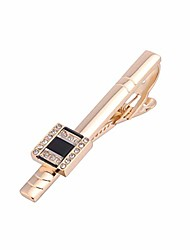 cheap -tie pins tie clips for men rose gold tie bar clip tie pin with gift box tie clasp clamps mens accessory wedding gifts
