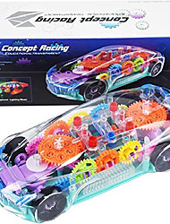 cheap -kids toy car with led music and electric transparent mechanical gear - early educational learning race cars toys for 2 3 4 year old boys girls