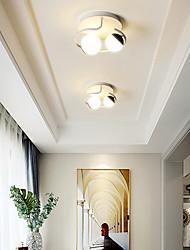 cheap -25cm LED Ceiling Light Corridor Lamp Black White Nordic Globle Modern Flush Mount Lights Metal Painted Finishes Christmas Decoration 110-120V 220-240V