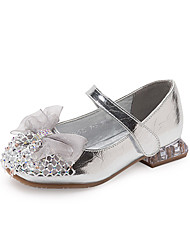 cheap -Girls' Flats Princess Shoes PU Little Kids(4-7ys) Daily Walking Shoes Gold Silver Spring Fall