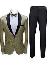 cheap -Tuxedos Tailored Fit / Standard Fit Shawl Collar Single Breasted One-button Cotton Blend / Cotton / Polyester Snowflake