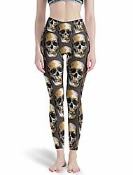 cheap -womens tight high waist yoga pant skull power stretch yoga leggings in many styles white m