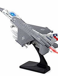 cheap -f-16 fighting falcon - 1/100 diecast airplane model pull back fighter toy (gray)