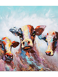cheap -Cattle Oil Painting On Canvas Abstract Contemporary Art Wall Paintings Handmade Painting Home Office Decorations Canvas Wall Art Painting Rolled Canvas(No Frame)
