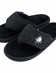 cheap -men's & women's adjustable flip flop slippers, open toe house slippers, memory foam anti-slip breathable indoor & outdoor house shoes (men-black,11-12)