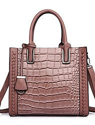 cheap -Women's Bags PU Leather Leather Satchel Top Handle Bag Tassel Zipper Daily Outdoor Handbags Black Red Blushing Pink Green