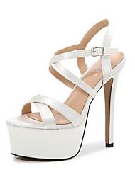cheap -Women's Dance Shoes Pole Dancing Shoes Heel Slim High Heel White Black Buckle Adults'