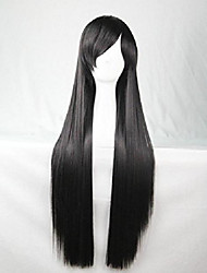 cheap -long straight hair costume dance party of cosplay wigs 100cm (black)