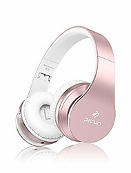 cheap -slub bluetooth 5.0 headphones over ear wireless/wired/tf built in mic 28h play time hi-fi deep bass hd stereo sports active noise cancelling foldable headset touch-control for cell phone/pc