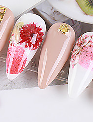 cheap -No. 7 Real Flower Dried Flower Material Sunflower Immortal Flower Small Daisy Blue Enchantress Epoxy Real Dried Flower Diy Nail Art