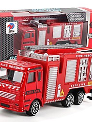 cheap -toys light and sound fire engine vehicle alloy engineering toy mining car truck children's birthday gift fire rescue maintenance truck, fire truck, ladder truck (1pc, fire truck)