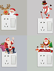 cheap -Christmas Toys Christmas Window Clings Window Stickers Wall Decals Santa Claus Merry Christmas Waterproof Removable Party Favor PVC 10 pcs Kid's Adults 11.7*14.5cm Christmas Party Favors Supplies