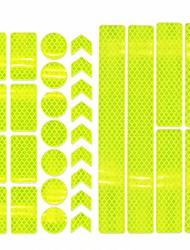 cheap -reflector stickers- 10 pcs retro reflective stickers tape kit, night visibility safety, universal adhesive for bike, car, stroller, buggy, helmet, motorcycle, scooter, toys (yellow)