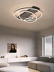 cheap -60cm LED Ceiling Light Circle Design Modern Nordic Black Gold Flush Mount Lights Metal 110-120V 220-240V