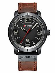 cheap -men's quartz wristwatches male clock luxury reloj hombres leather wrist watches with calendar