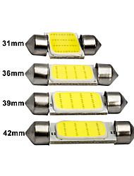 cheap -1x C10W C5W LED COB Festoon 31mm 36mm 39mm 41/42mm 12V White bulbs for cars License plate Interior Reading Light 6500K 12SMD