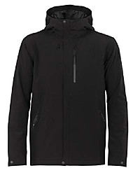 cheap -men's stratus transcend hooded jacket down alternative outerwear coats, small, black