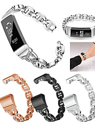 cheap -Smart Watch Band for Fitbit 1 pcs Sport Band Jewelry Design Stainless Steel Replacement  Wrist Strap for Fitbit Charge 2 Fitbit Charge 3 Fitbit Charge 4
