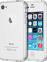 cheap -case for iphone 4 and iphone 4s shock-absorption bumper cover anti-scratch clear back (hd clear)