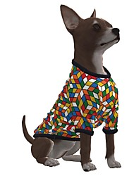 cheap -Dog Shirt / T-Shirt Graphic Optical Illusion 3D Print Exaggerated Casual / Daily Dog Clothes Puppy Clothes Dog Outfits Breathable Green Costume for Girl and Boy Dog Polyster S M L XL
