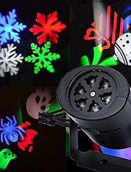 cheap -Santa Claus Snowman Projector Lights Night Light Portable Valentine's Day Christmas AC Powered 1pc