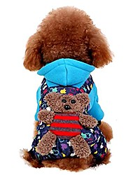 cheap -pet puppy dog bear hoodie jumpsuit outwear for small and medium breeds by prettypet! durable pet autumn winter apparel. protect your four-legged friend from cold weather!ut