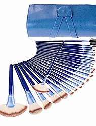 cheap -24 sticks blue professional makeup brush set with protective cover soft brush head, suitable for all kinds of cosmetic by  (color : blue)