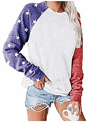 cheap -long sleeve american flag t-shirts american flag apparel for women tee tunic blouses patriotic womens apparel