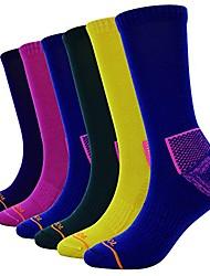 cheap -6 pack women's merino wool blended trail socks (9-11, mix color 2)