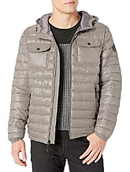 cheap -men's hooded down alternative jacket, light grey, xx-large