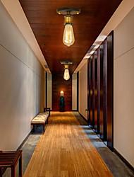 cheap -1-Light Vintage Loft Mini Metal Ceiling Lamp Flush Mount Hallway Dining Room Bedroom Kitchen Antique Lamp