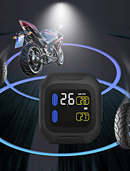 cheap -Original Wireless Motorcycle TPMS Tire Pressure Monitoring System Motor Tyre LCD Display Internal or External TH/WI Sensors