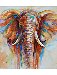 cheap -Elephant Oil Painting On Canvas Abstract Contemporary Art Wall Paintings Handmade Painting Home Office Decorations Canvas Wall Art Painting Rolled Canvas(No Frame)